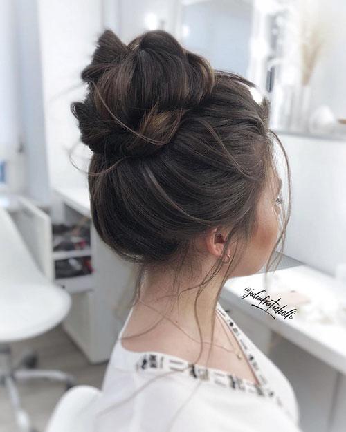 Long Hair Bun Images