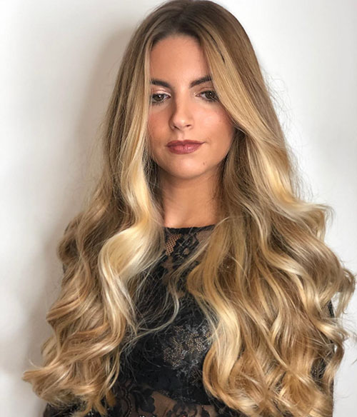 Long Blonde Wedding Hairstyles