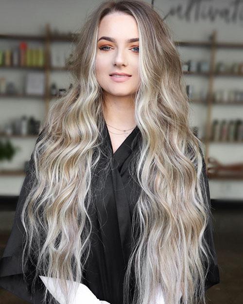 Long Blonde Balayage Hair