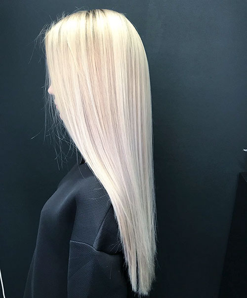 Long Blonde Wedding Hair