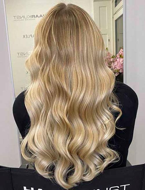 Halsey Long Blonde Hair