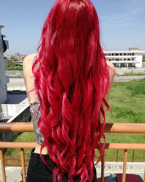 Long Red Hairstyles