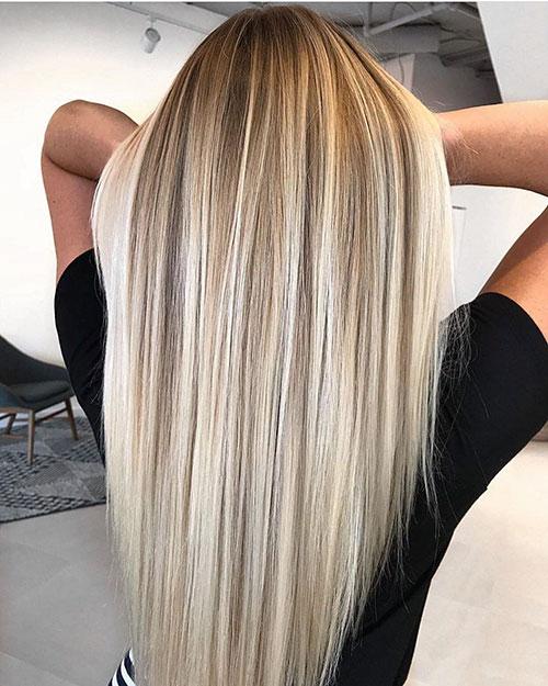 Women Long Hair Highlights