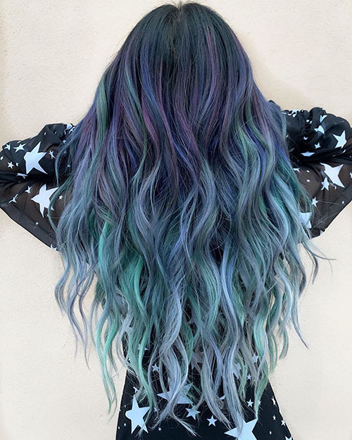 Long Hair Styles With Color