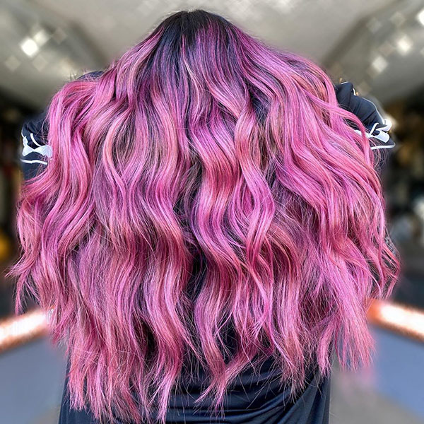 Long Pink Hair Color