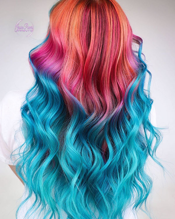 Beautiful Long Vibrant Hair