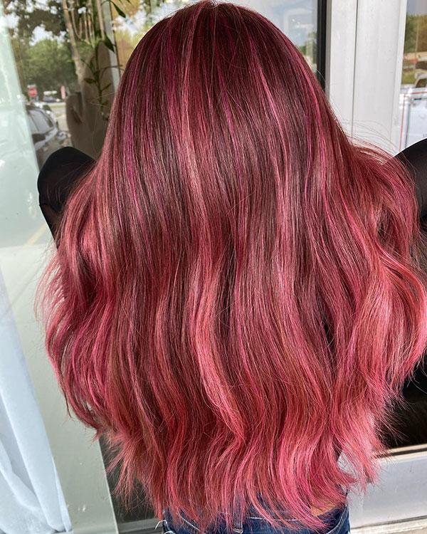 Haircuts For Long Pink Hair