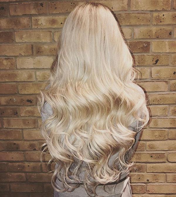Long Bleached Hair Color