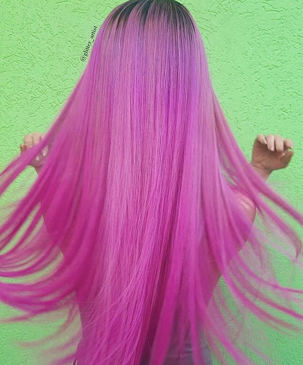 Pictures Of Long Pink Hair