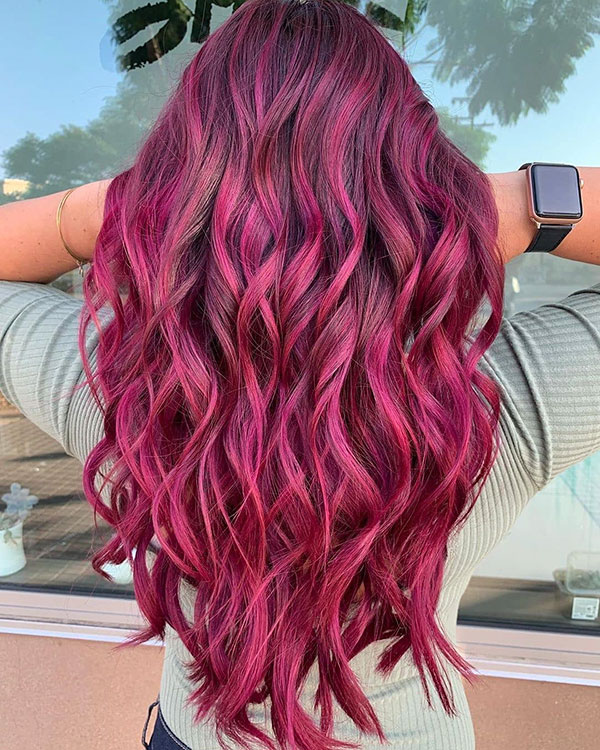 Women With Long Pink Hair
