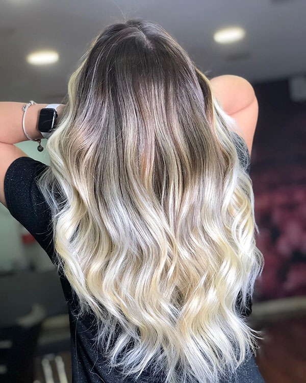 Long Balayage Hair Color 2020
