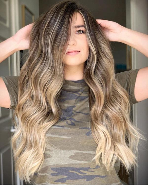 Long Balayage Hairstyles 2020
