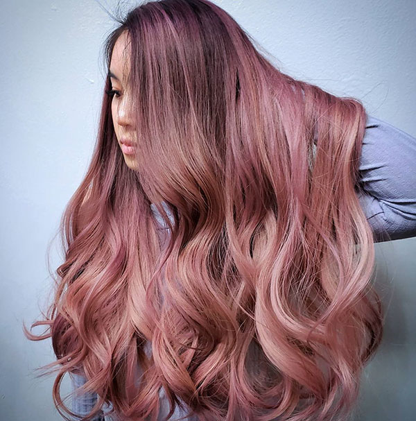 Hairstyles For Long Pink Hair