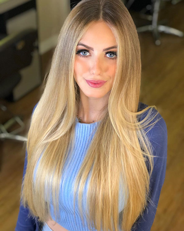 Long Blonde Hair Color