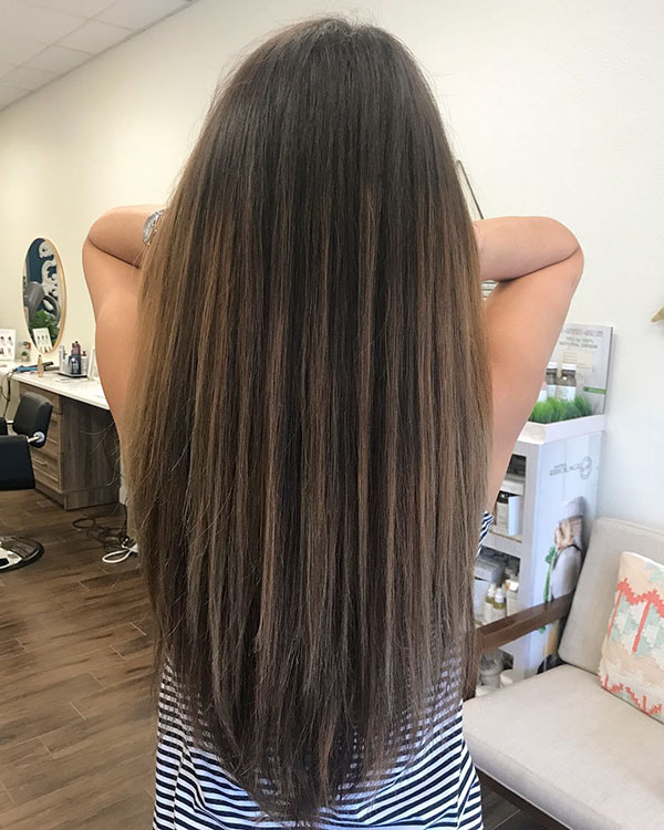 Long Haircut Female