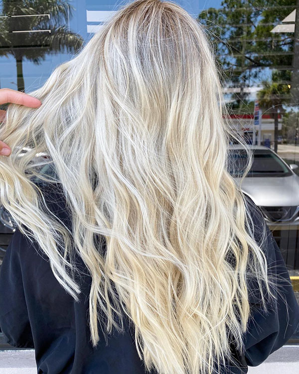 Bleached Blonde Hairstyles