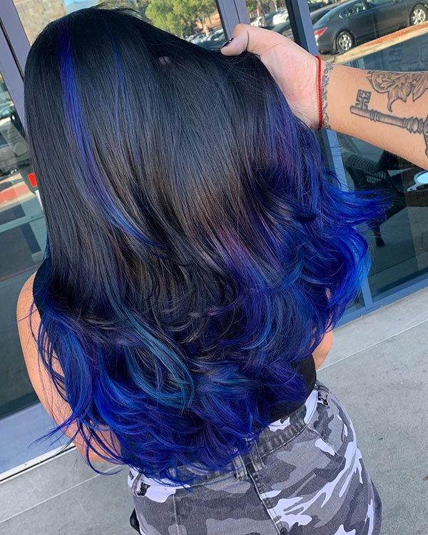 Haircuts For Long Blue Hair