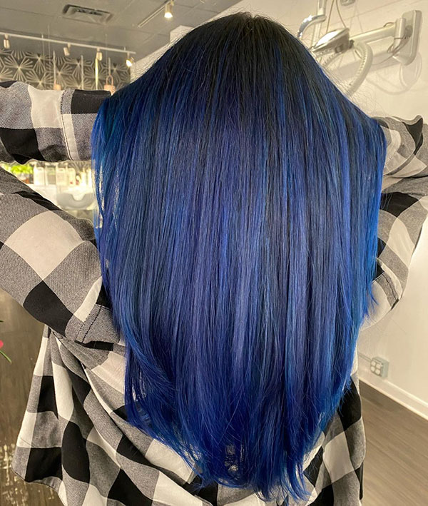 Pictures Of Long Blue Hair