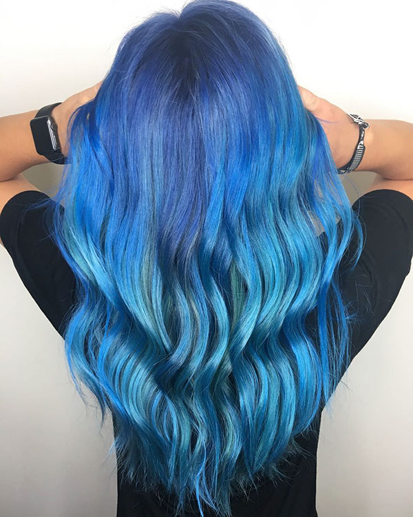 Long Blue Hairstyles 2021