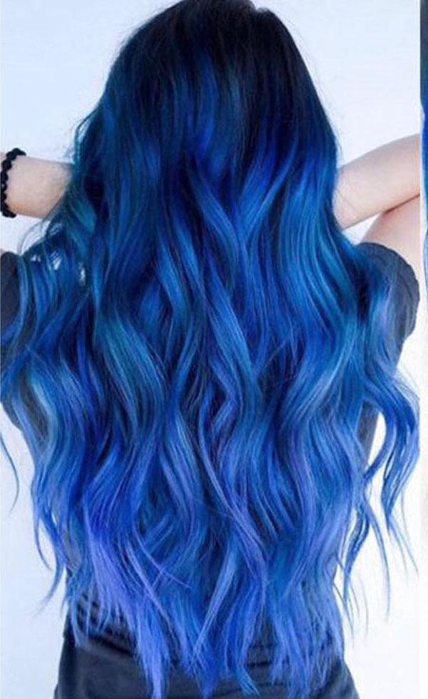 Long Blue Hairstyles