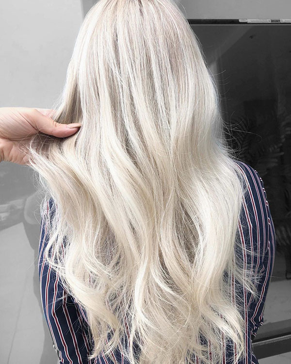 Bleached Blonde Hair