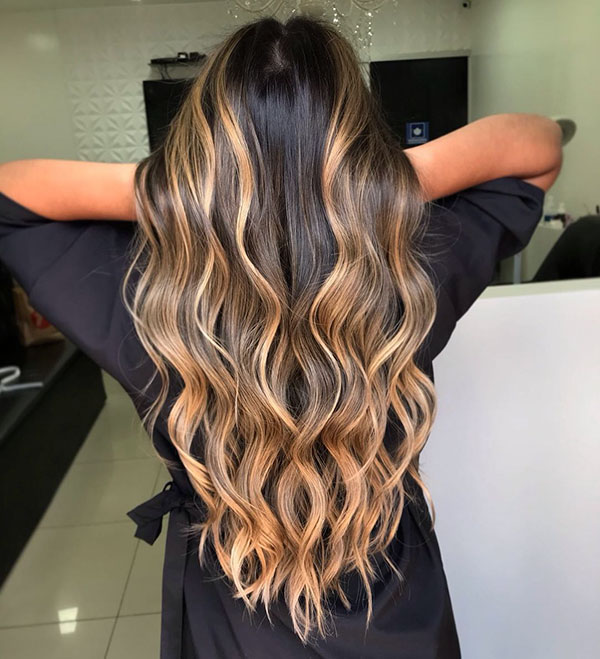 Long Balayage Hair Ideas