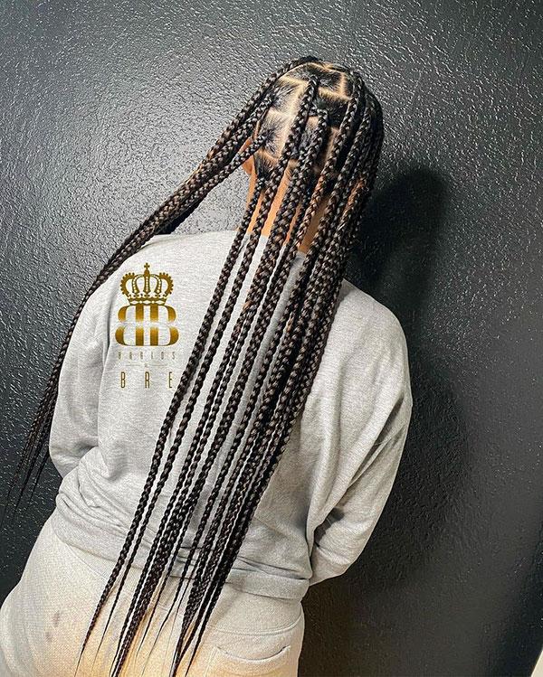 Long Braids For Black Women